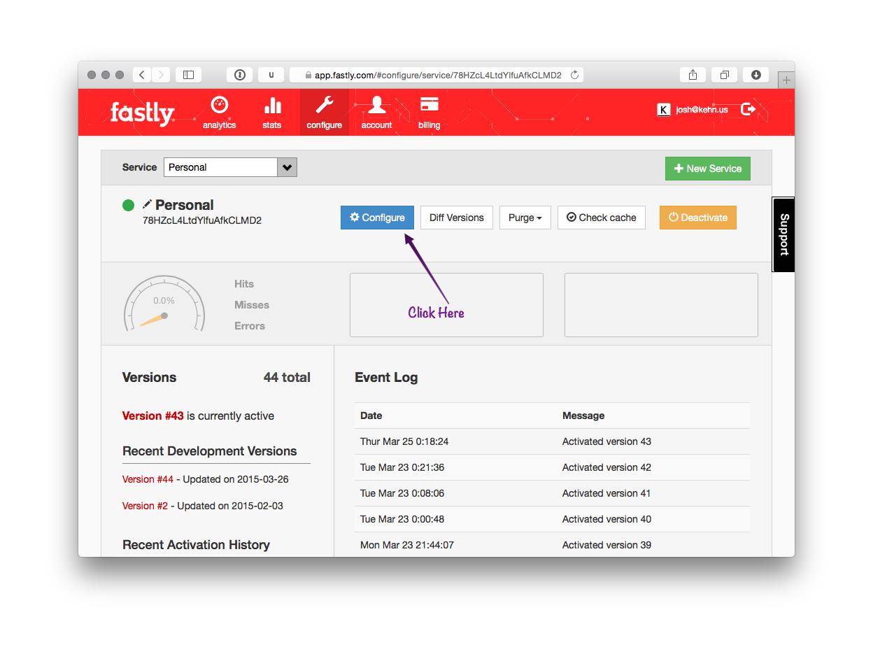 Fastly Custom 404 Step 1